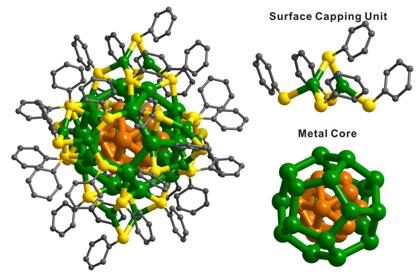 纳米颗粒的单晶结构
